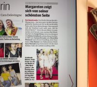 """Kitty Montgomery featured in the """"Kurier"""" newspaper"""