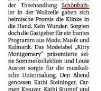 Kitty Montgomery – featured in the Bezirkszeitung