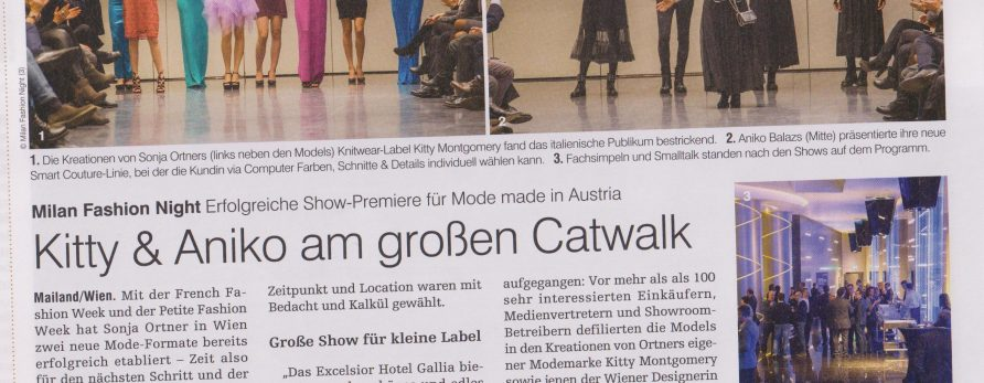 Kitty Montgomery at Milan Fashion Night – featured in the medianet luxury brands & retail magazine
